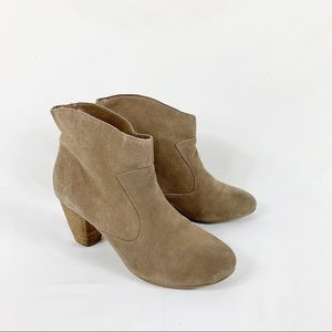 URBN Ecote Tan Suede Leather Alexandra Ankle Boots